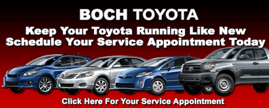 BOCH TOYOTA SERVICE APPOINTMENT